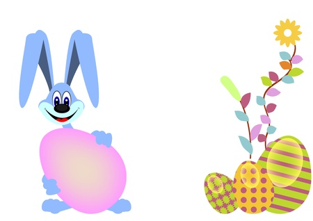 cute bunny and happy easter Stock Vector - 18263328