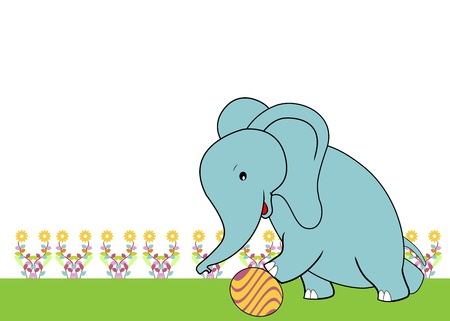 cute elephant with soft color Illustration