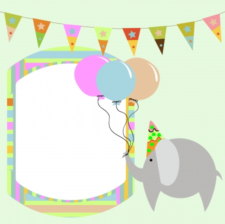 greeting cards with elephant Vector