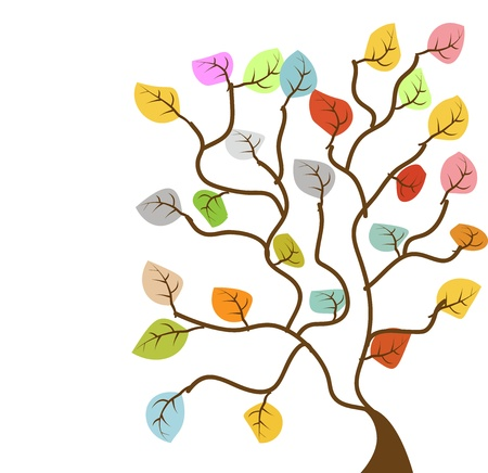 tree with soft color Illustration