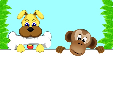 monkey and dog