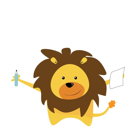 courage: cute lion