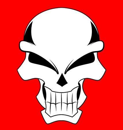 red skull dangerous Stock Vector - 19732196