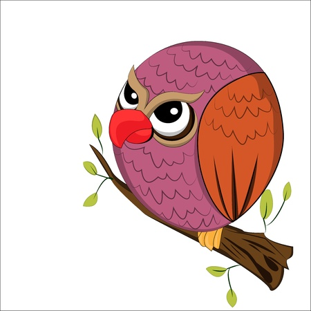 owl on the tree Vector