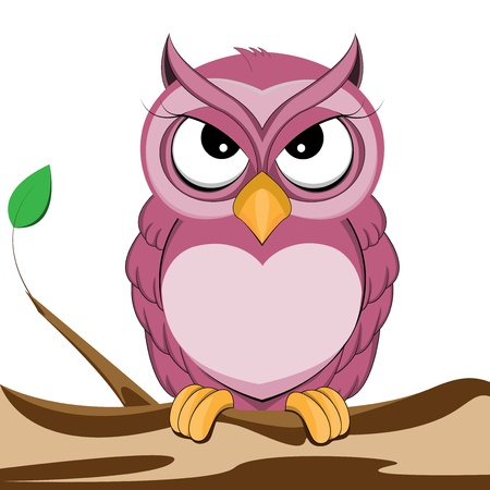 cute purple owl Illustration