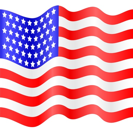 american flag of vector