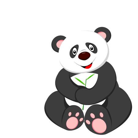 cute panda sitting Vector