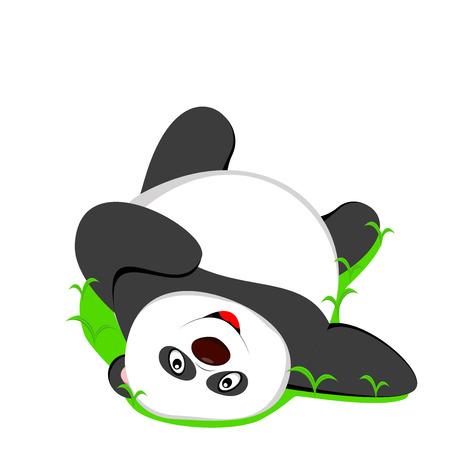 one panda: cute baby panda sleeping Illustration