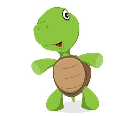 cute turtle standing