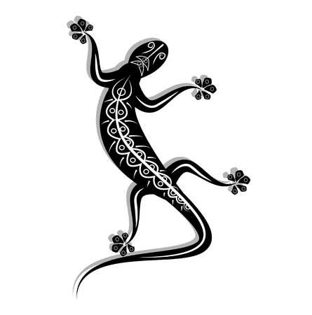 black lizard vector of illustration Vector