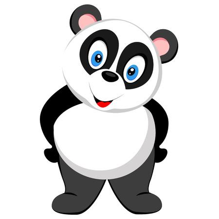 cute baby panda standing Vector