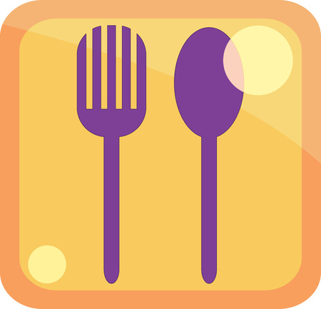 icon spoon and fork