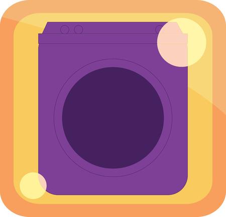 icon washing machine Illustration