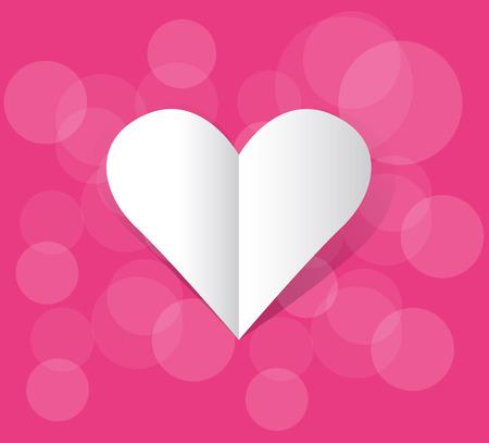 love card: tarjeta de amor de vector Vectores