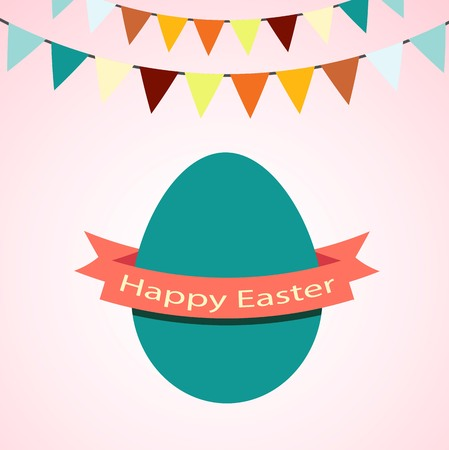 happy easter vector of illustration Vector