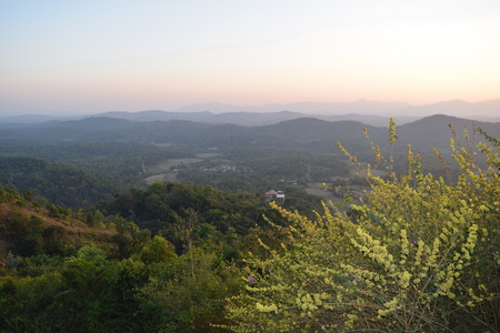 A view point of hills  from Rajaseat, Madekeri, Karnataka, India