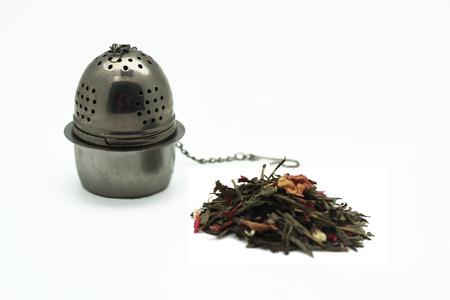 infuser: Tea and tea infuser Stock Photo