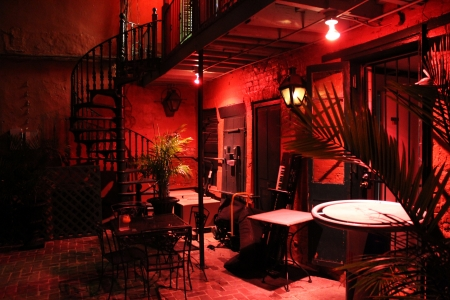 Tango bar in Cuba at night photo