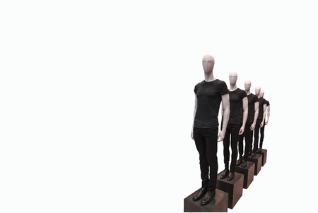 mannequins isolated on white background photo
