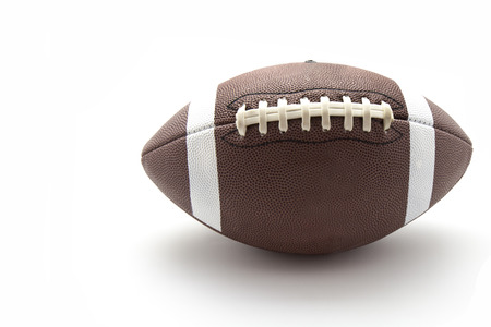 us football ball on white background photo