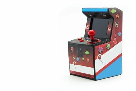 joy pad: arcade box isolated on white background Stock Photo