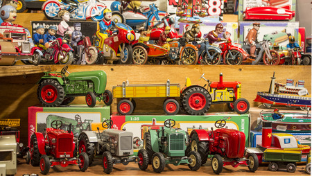 stand of toys photo