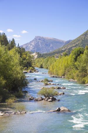 gorges: Gorges du Verdon european canyon and river. Alps, Provence, france Stock Photo