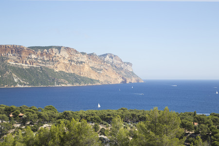 calanques of cassis, near marseille photo