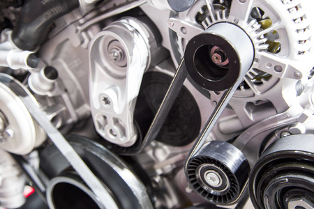 rev: The powerful engine of a modern sport car Stock Photo