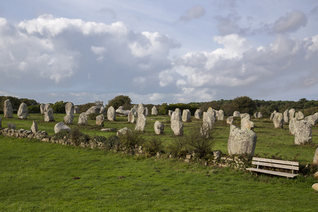 intriguing: Intriguing standing stones at Carnac in Brittany in north-western France