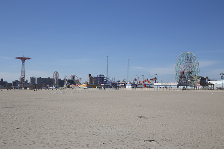 Coney island during a suny day Editorial