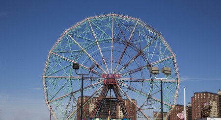 suny: Coney island during a suny day Editorial