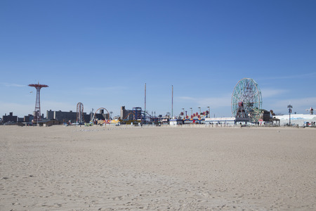 coney: Coney island during a suny day Editorial