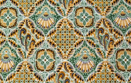 Close up beautiful pattern of batik fabric