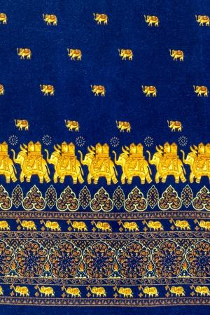 Elephant with decorative pattern fabric texture photo