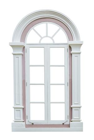 VENTANAS: Marco de la ventana clásico aislado en el fondo blanco