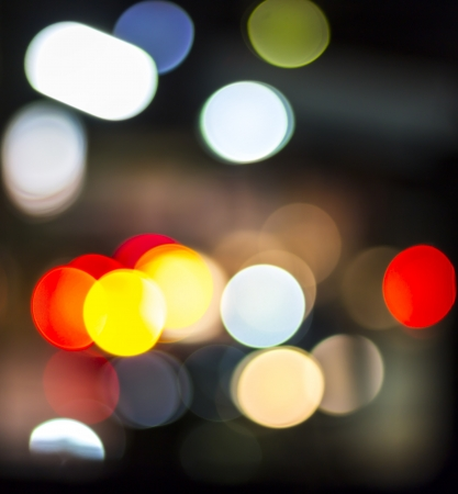 Colorful of bokeh lights background at night Stock Photo
