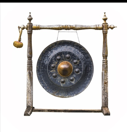 Traditional thai gong isolated on white background Stock Photo