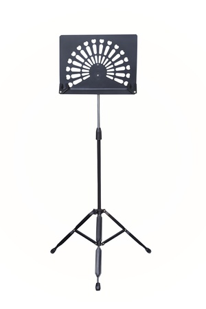 orchestration: Empty music stand isolated on white background