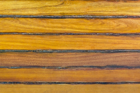 caulk: Closeup boat wooden hull texture and caulk