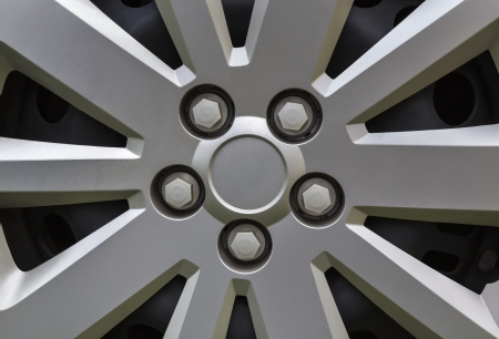 Closeup detail of a car alloy rim photo