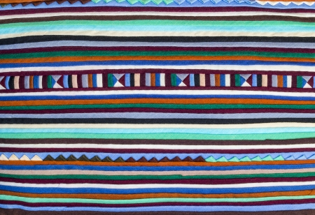Closeup colorful of  fabric alternation pattern background