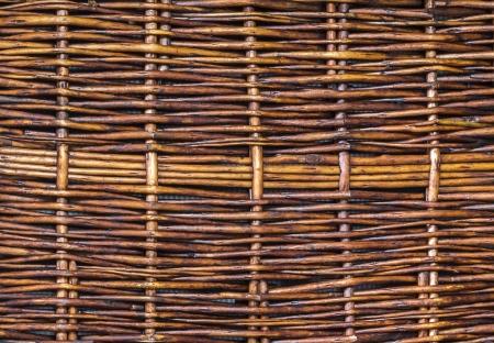 latticework: Closeup brown wooden woven wicker texture background