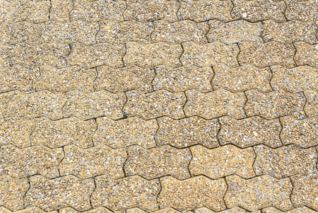 Closeup sandstone concrete block floor texture background Stock Photo