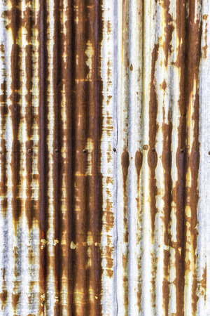 Closeup rusted on galvanized iron plate background