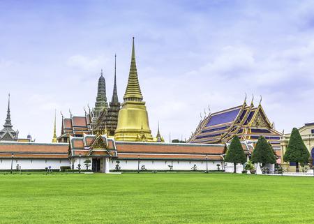 Grand Palace and Temple ( Wat pra kaew ) in Bangkok Thailand photo