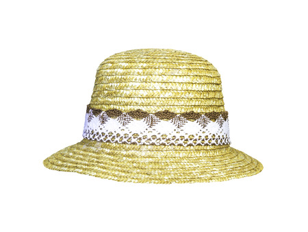 Women hat  isolated on white with clipping path
