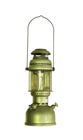 Old classic lantern isolated on  white background