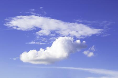 closeu blue sky with fluffy clouds  background