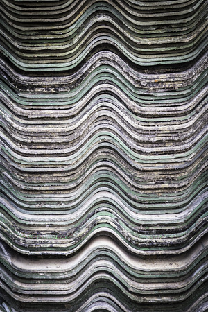 rooftile: Pattern and texture of stack old roof tiles